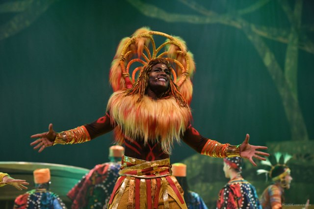 The Lion King: Rhythms of the Pride Lands musical stage show at Disneyland Paris poster art