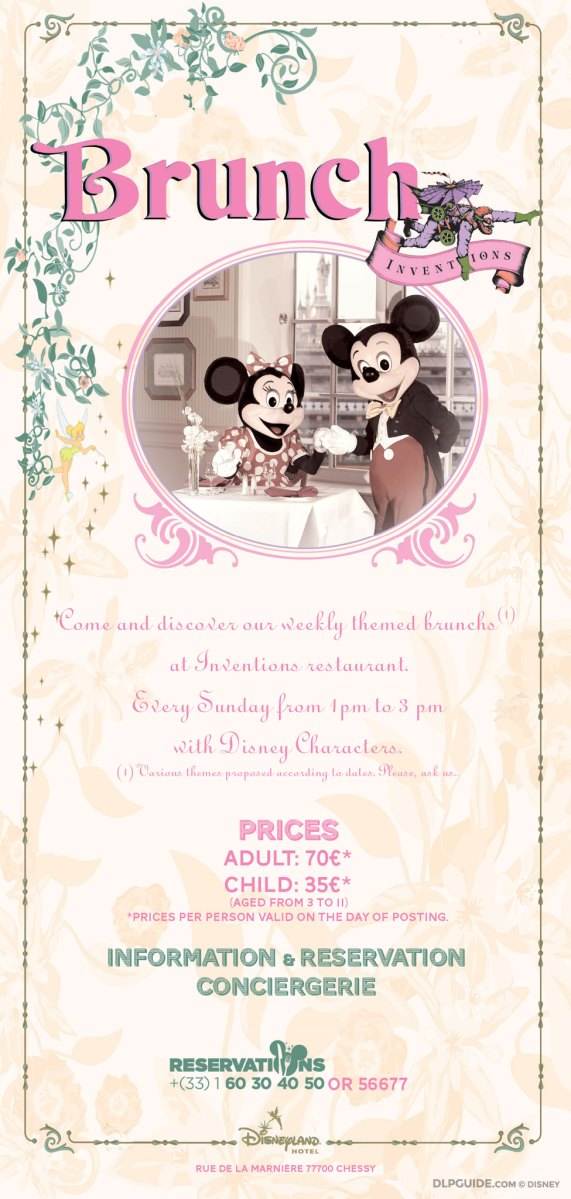 Inventions weekly brunch menu