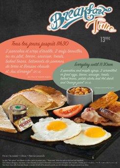 Annette's Diner breakfast menu