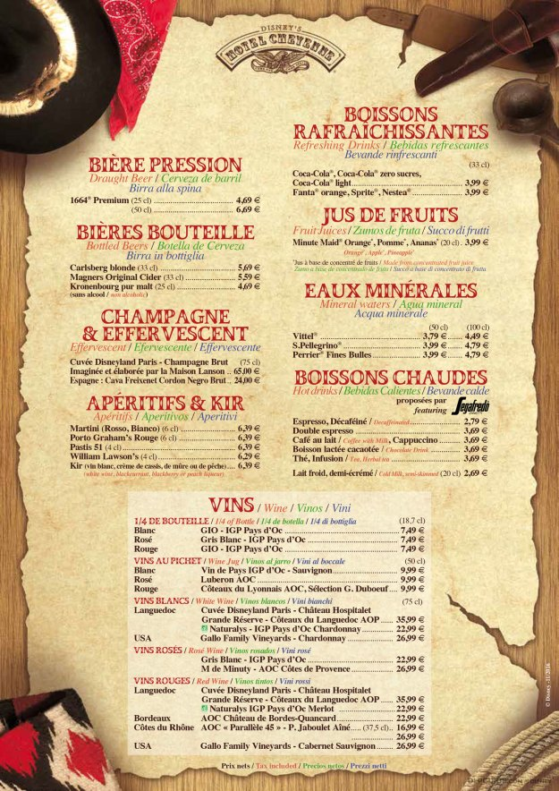 Chuck Wagon Cafe menu