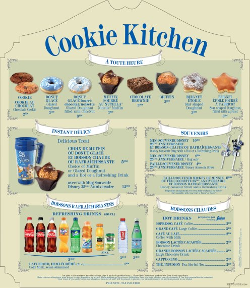 Cookie Kitchen menu