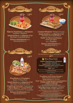 Pizzeria Bella Notte menu