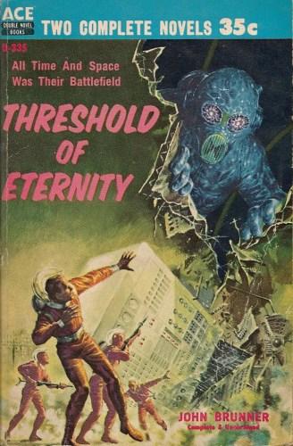 Threshold of Eternity by John Brunner. Artwork by Ed Emshwiller.