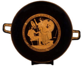 Greek Pottery Paper Plate Craft