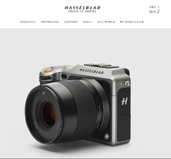 Hasselblad X1D Webサイト