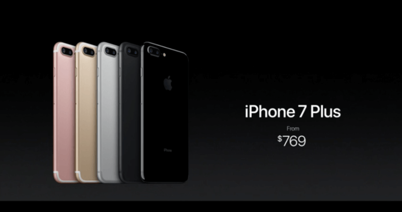 iPhone 7 plus価格