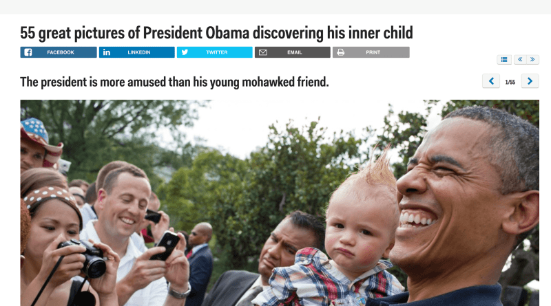 55 great pictures of President Obama discovering his inner child