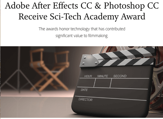 Adobe After Effects CC & Photoshop CC Receive Sci-Tech Academy Award