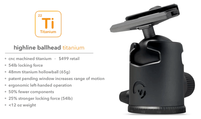 The World's First Titanium Tripod System.The World's First Titanium Tripod System.