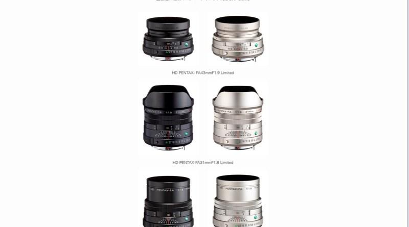 2021年02月25日 Kマウント一眼カメラ用交換レンズ 「HD PENTAX-FA Limited」 3機種を新発売 ~全機種に最新のHDコーティング、円形絞りを採用~