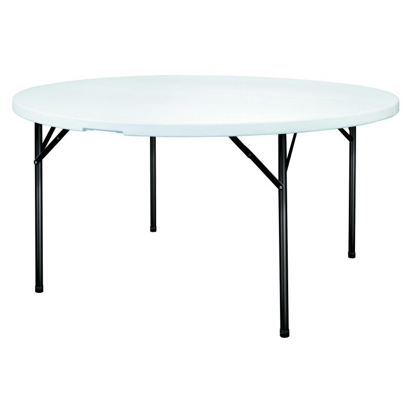 table de collectivite pliante en polypro ronde