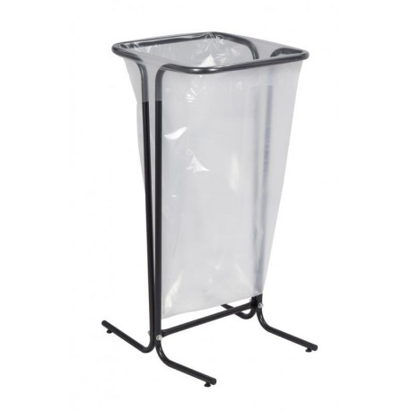 porte sac poubelle tubulaire sur pieds en acier poudre 110 litres