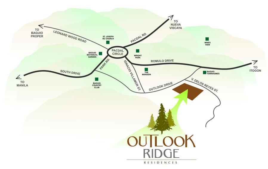 Outlook Ridge Residences Location