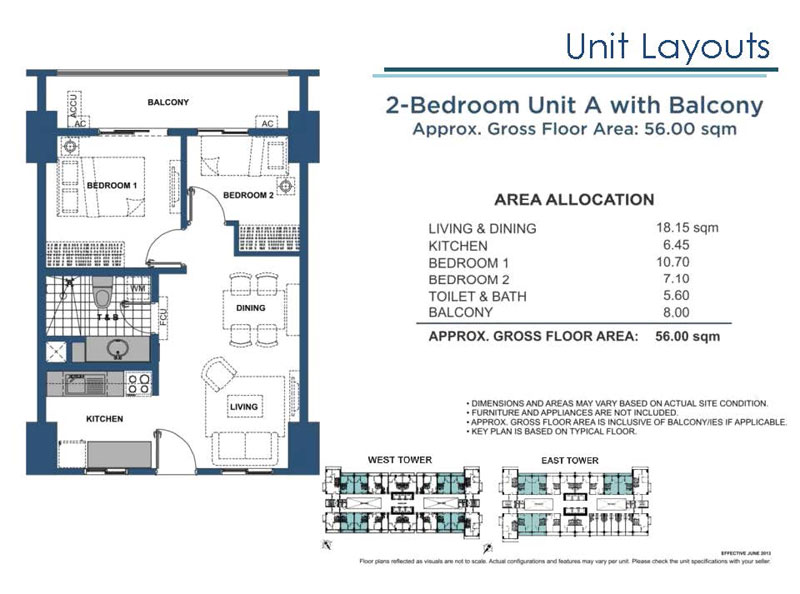 Lumiere Residences 2 Bedroom A with Balcony