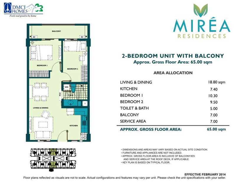 Mirea Residences 2BR 51 sqm