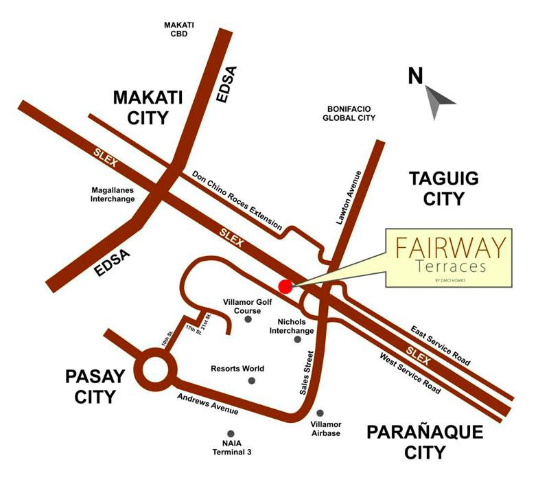 Fairway Terraces Location Map