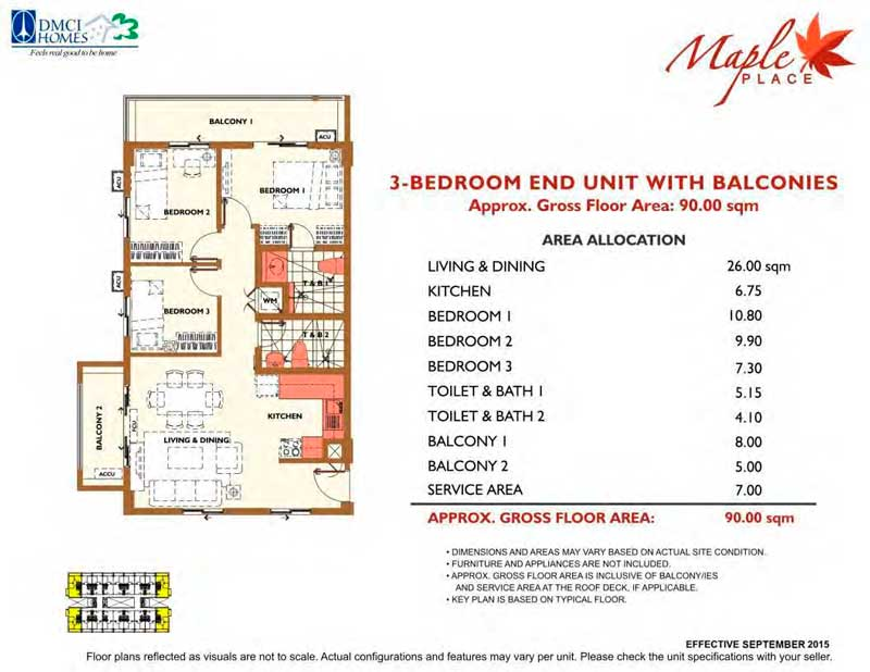 Maple Place 3 Bedroom