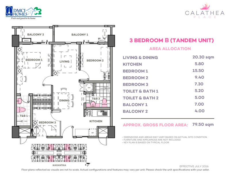 Calathea Place 3-Bedroom-B-Tandem