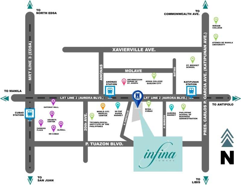 infina-towers-location