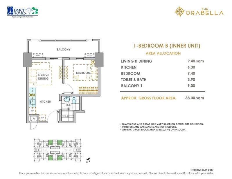 The Orabella DMCI 1 Bedroom B
