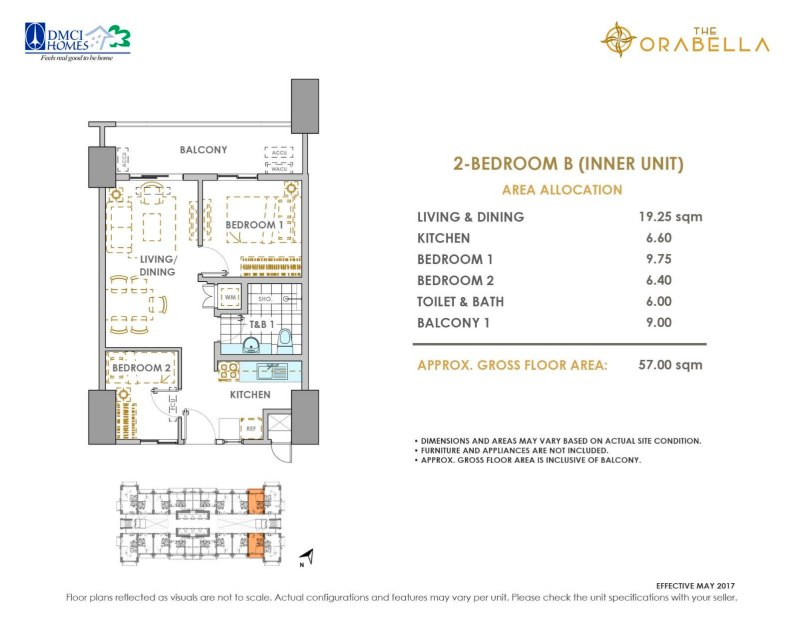 The Orabella DMCI 2 Bedroom B