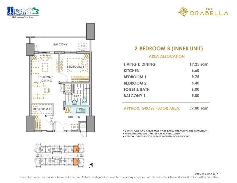 The Orabella DMCI 2 Bedroom B