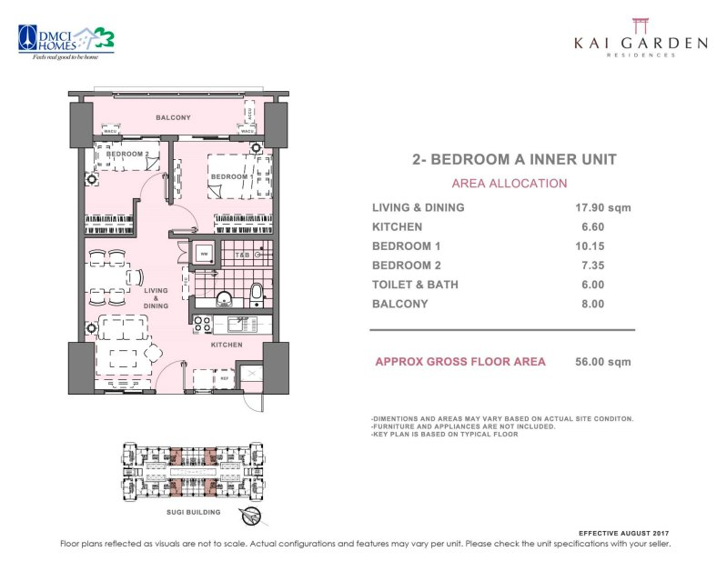 Kai Garden Residences 2 Bedroom A