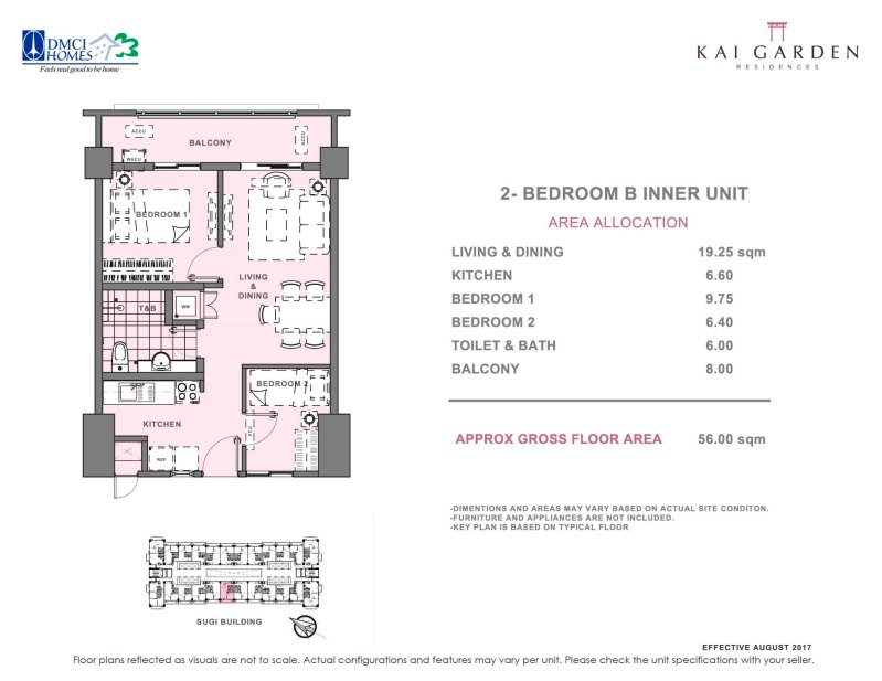 Kai Garden Residences 2 Bedroom B