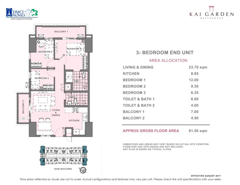 Kai Garden Residences 3 Bedroom Unit