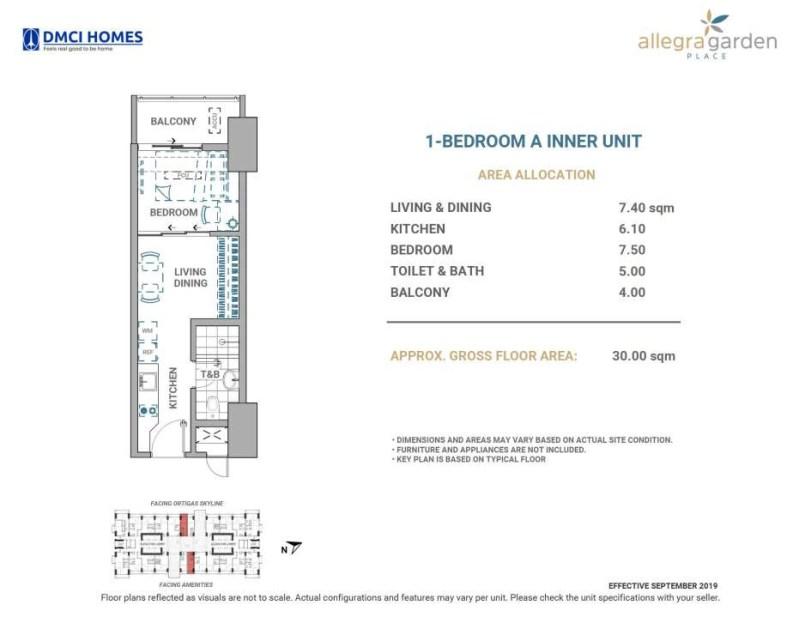 Allegra Garden Place 1 Bedroom A