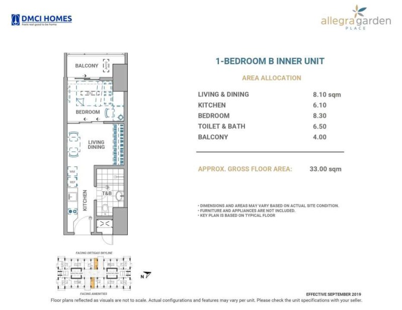 Allegra Garden Place 1 Bedroom B