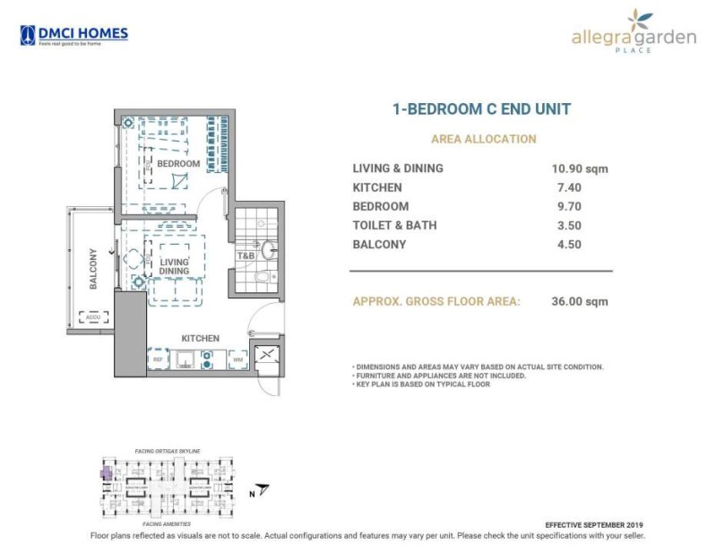 Allegra Garden Place 1 Bedroom C