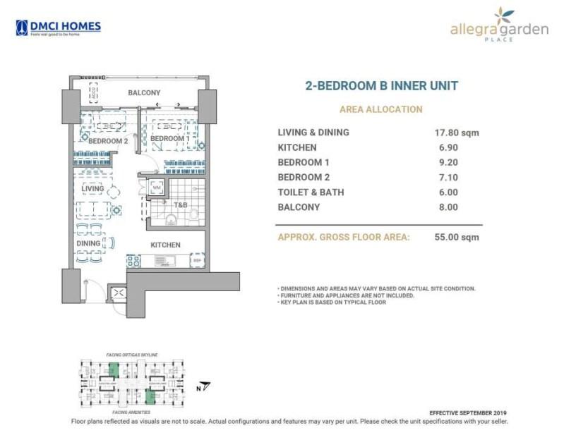 Allegra Garden Place DMCI 2BR B