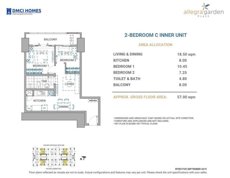 Allegra Garden Place DMCI 2BR C