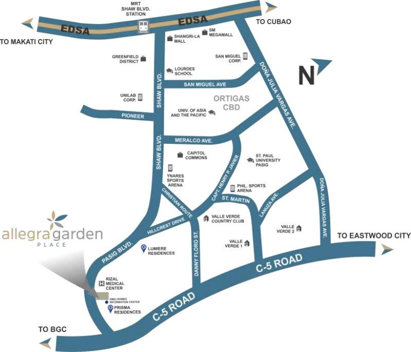 Allegra Garden Place Location