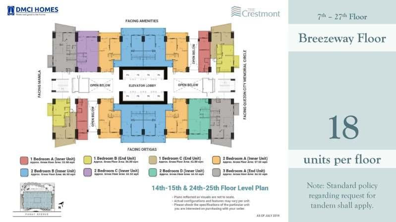 The Crestmont DMCI for sale Floorplans