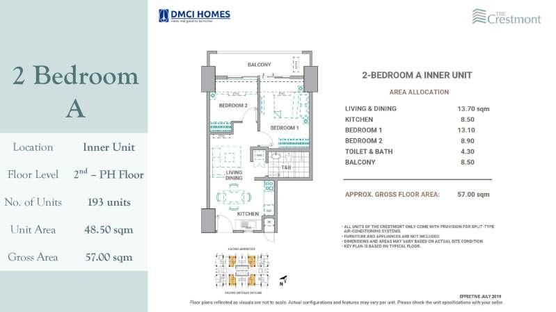 2 Bedroom Crestmont DMCI for sale