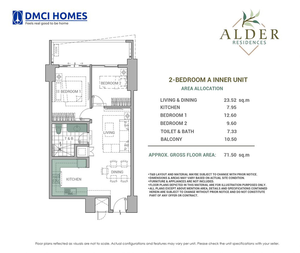 Alder Residences 2 Bedroom