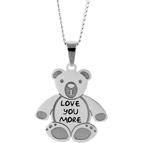 Teddy Bear Stainless Pendant