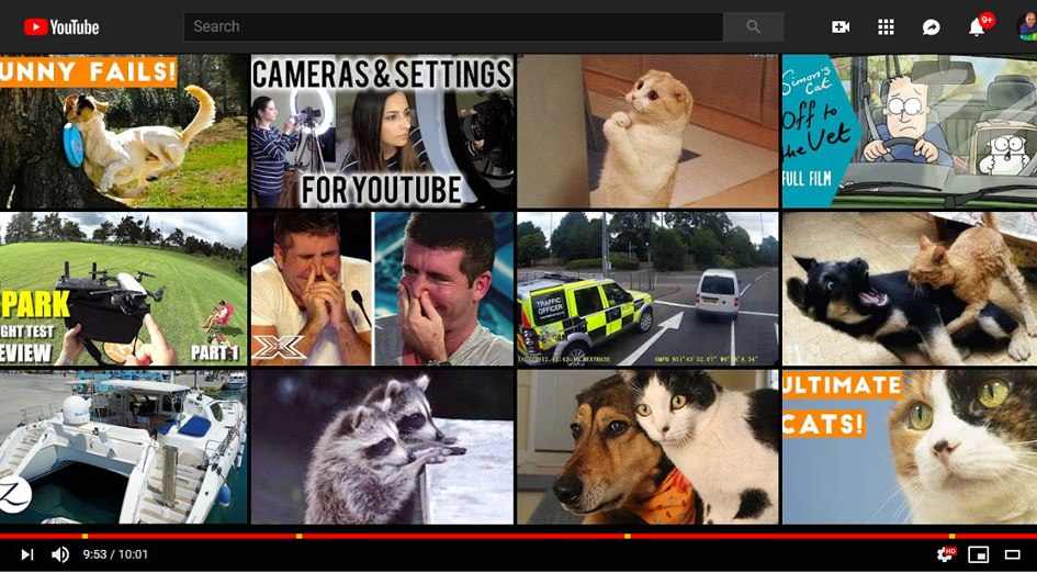 YouTube related videos