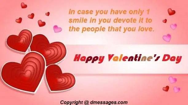 Short valentine day messages