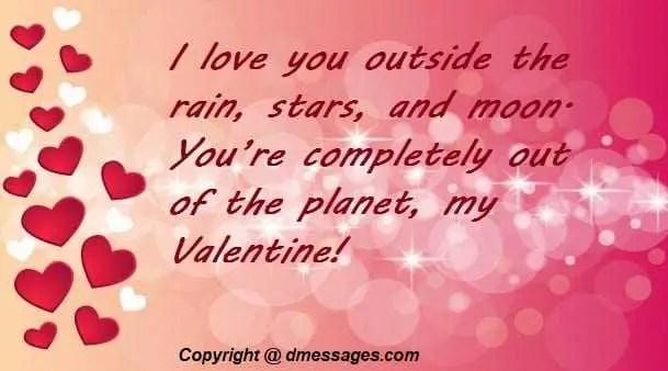 Valentine day love messages