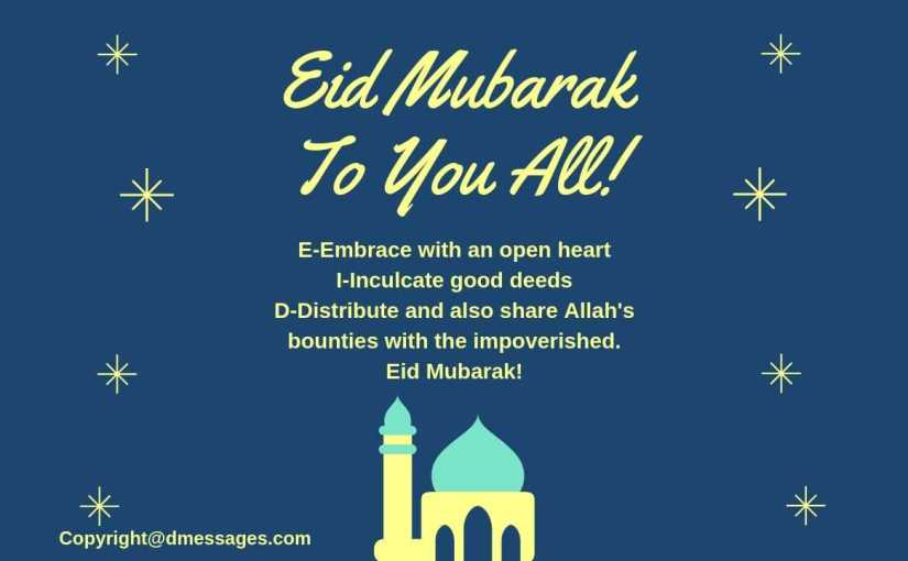 *BEST* 50+ Happy Eid Mubarak Wishes Messages, Greetings, Quotes