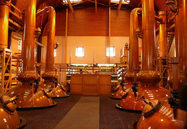 inside speyside whisky distillery