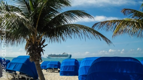 Grand Princess - Seen From Princess Cays on Eluthera