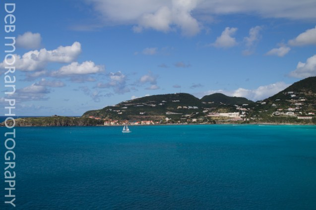Sailboat in the Bay - St. Martin