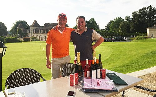 David de DMP et un client médecin au terrain de golf