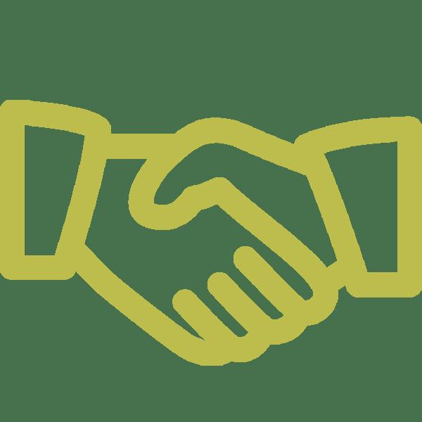 pictogramme de deux mains serrées