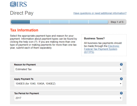 IRS, Tax Payments, Estimated Payments, Quarterly Tax Payments, Pay IRS Online