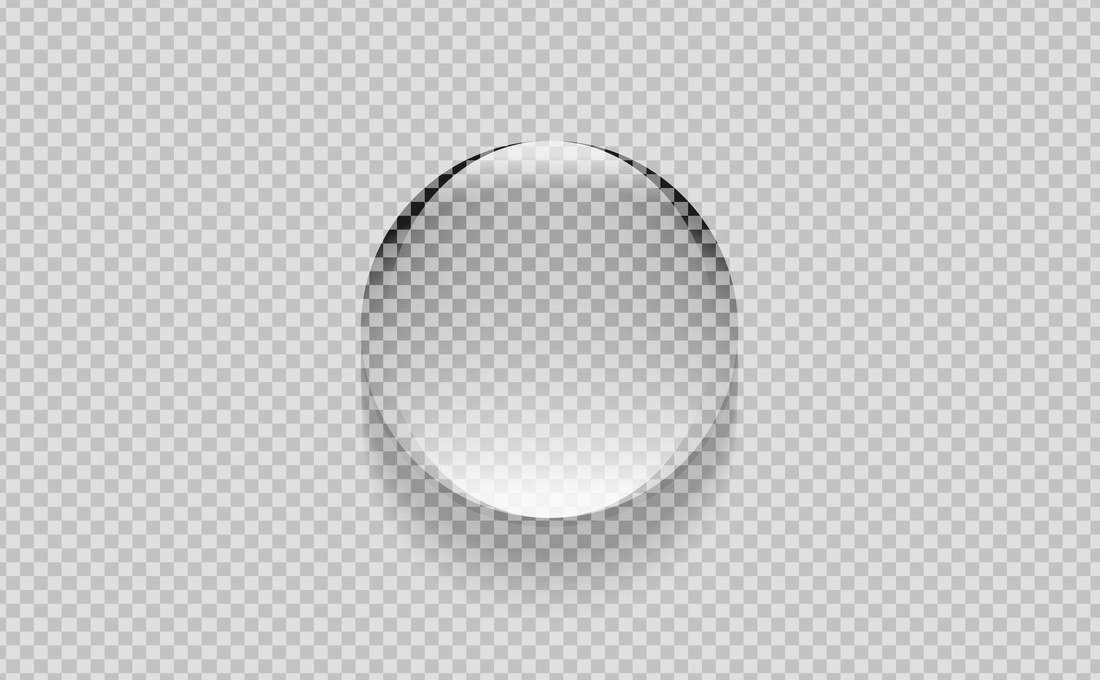 Una gota de agua transparente.